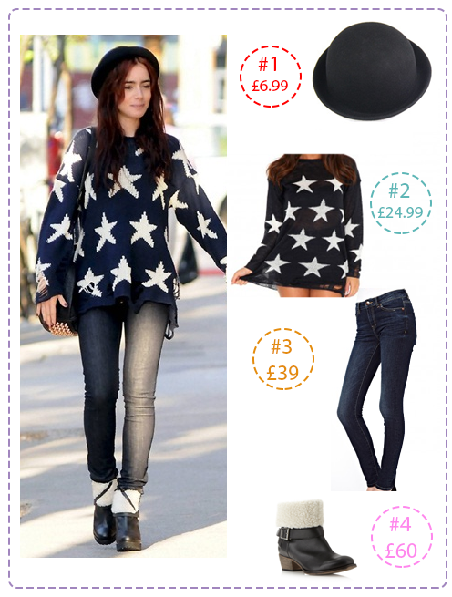 Lily Collins get the look for less