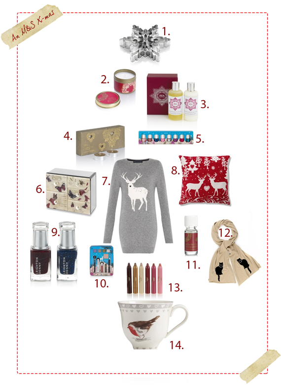Marks and Spencer Christmas Wishlist