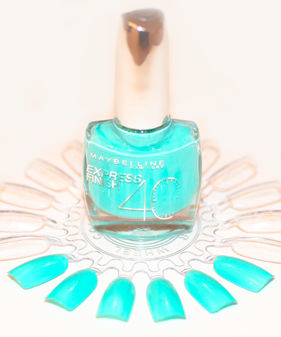 Maybelline Express Finish 40 Seconds Nail Polish Review Turquoise Lagoon