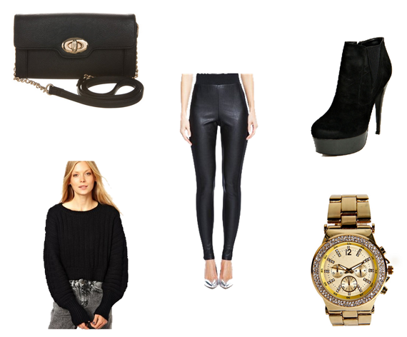 Head to toe in black and gold