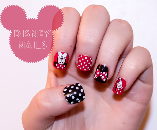 Nail Art Designs- Disney Minnie Mouse - Strikeapose
