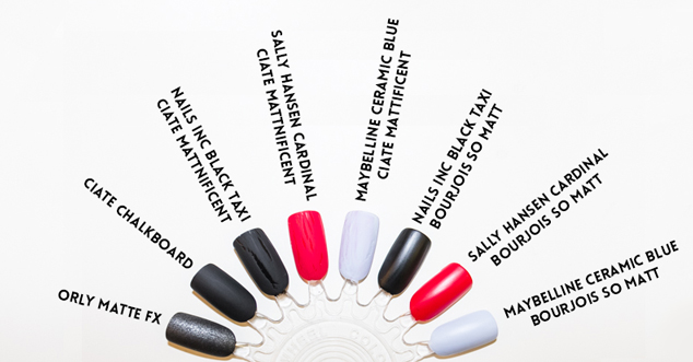 Matt nail polishes