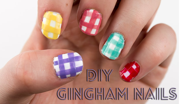 Nail Designs Gingham