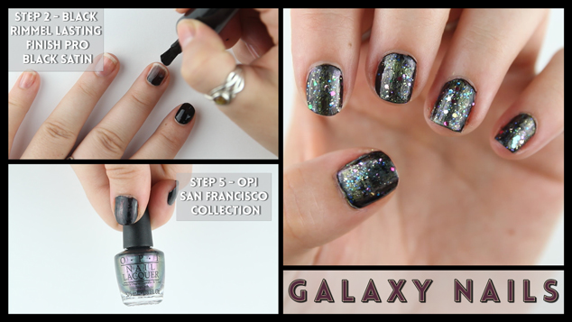 Galaxy Nail Art Tutorial Video Strikeapose