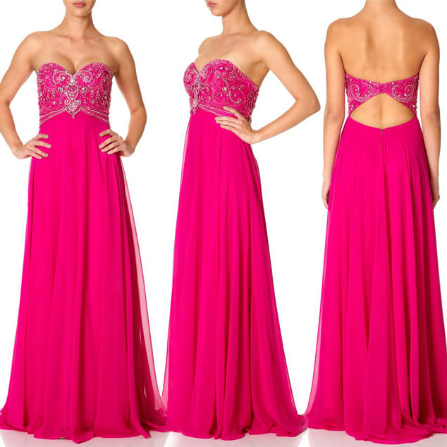 The-'Polly'-embellished-maxi-dress-in-hot-pink