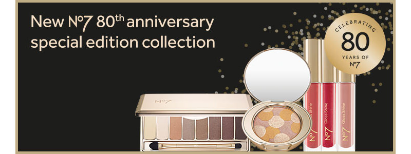 No7 Boots 80th Anniversary Limited Edition Cosmetics Collection 2015