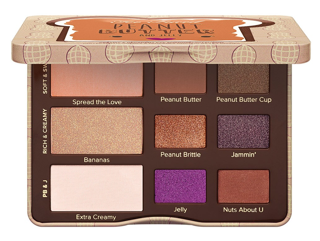 Too Faced Cosmetics Peanut Butter and Jelly Eye Shadow Collection