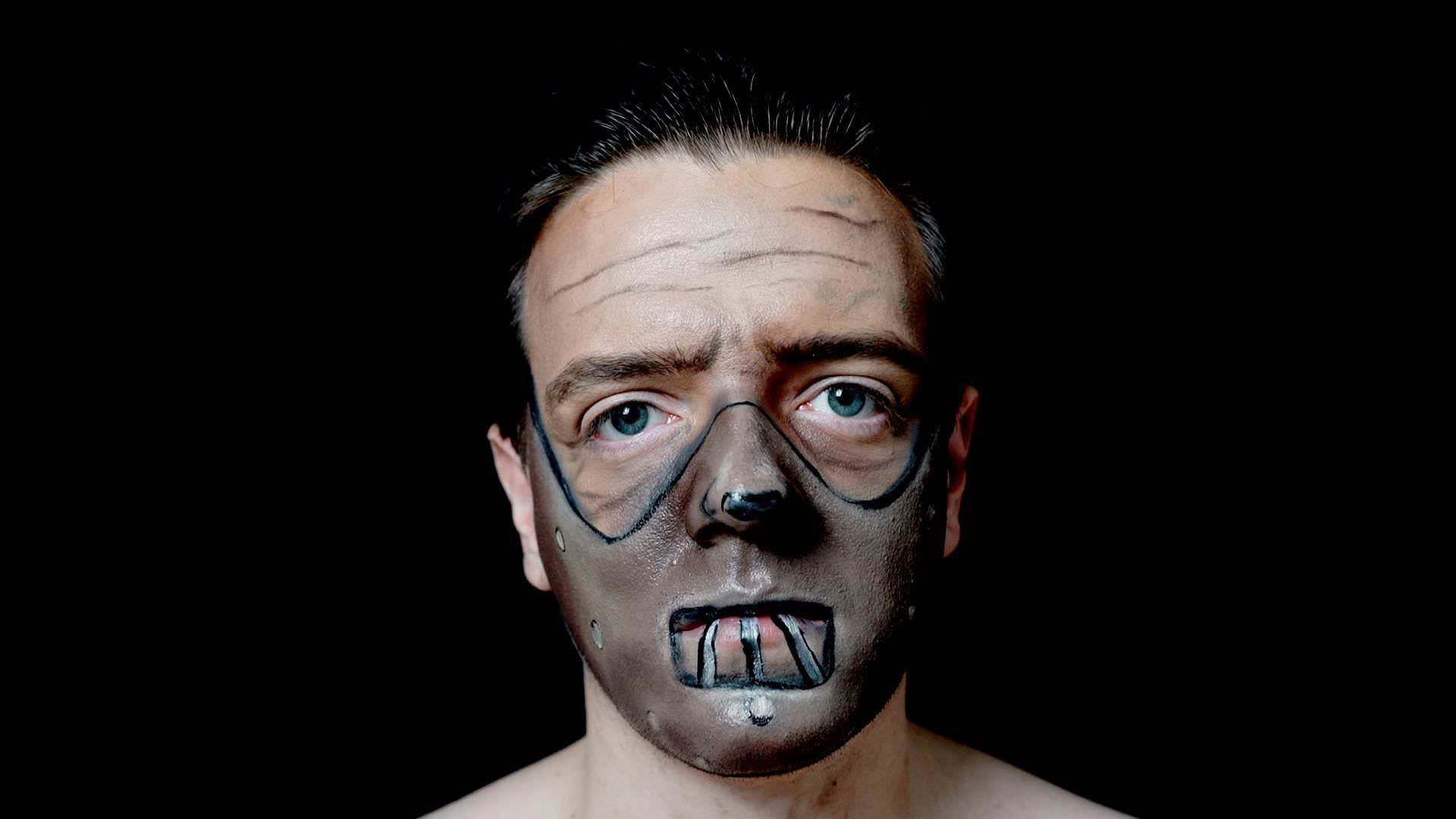 Halloween Face Paint Ideas - Hannibal Lecter Mask Makeup Tutorial!