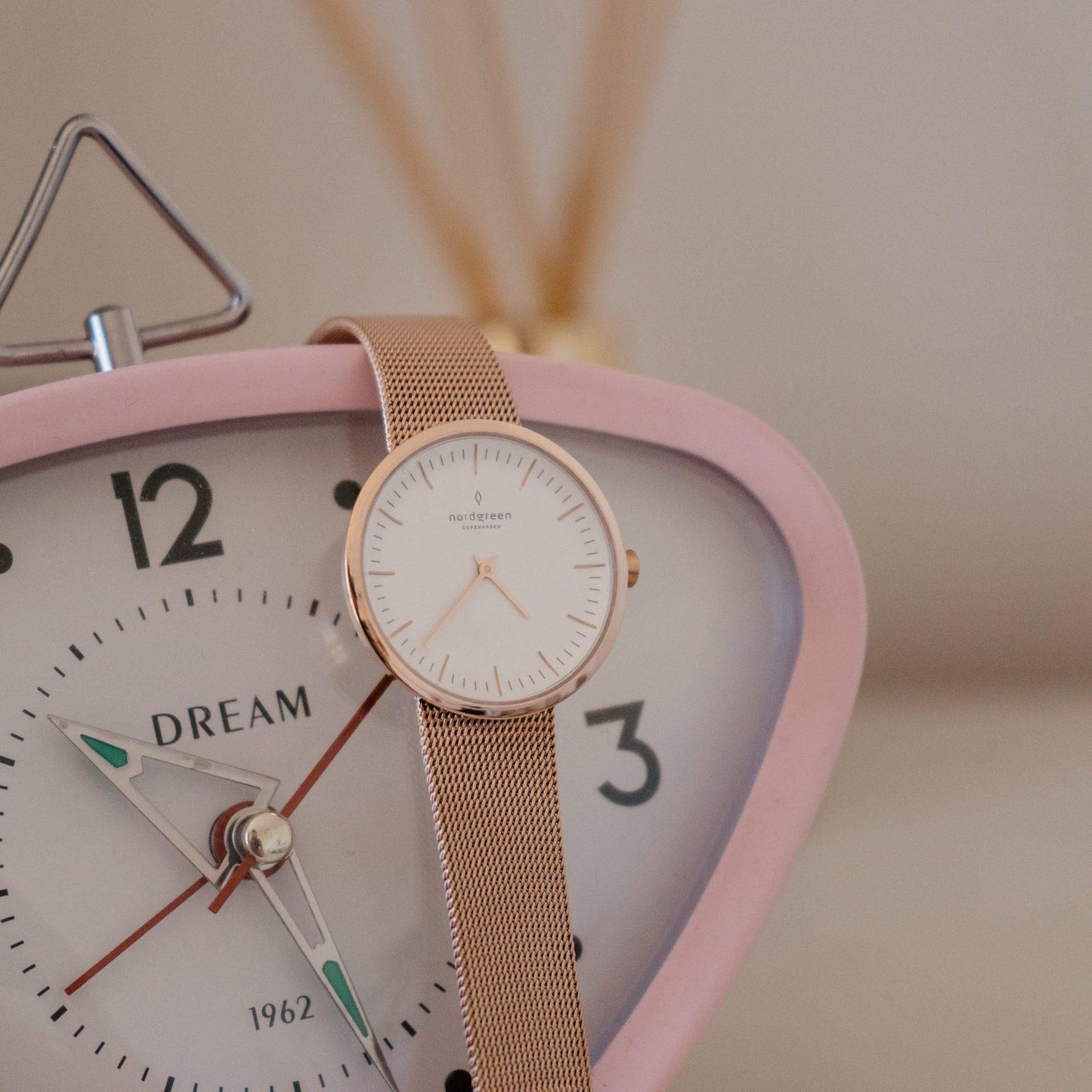 rose gold watch face nordgreen